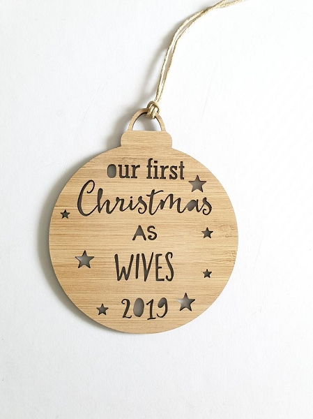 First Christmas Wives Personalised Christmas Ornament